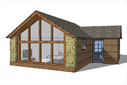 New build one bedroom bungalow march 2016